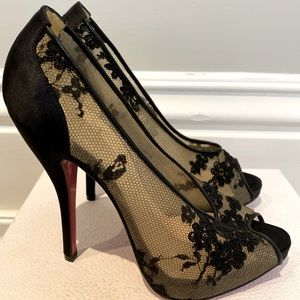 Brand new Louboutin floral lace heel!